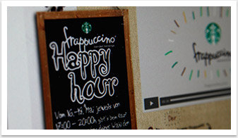 Webspezial Aktions-Microsite für Good Morning Starbucks by bgp e.media - Störer Detail