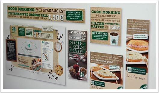 Webspezial Aktions-Microsite für Good Morning Starbucks by bgp e.media - Banner Design Webbanner