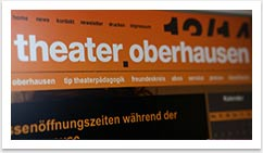 e.sy CMS und Webdesign für das Theater Oberhausen by bgp e.media - Top Navigation in Orange