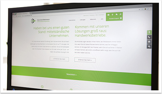 Teaser für Bleckmann Informationssysteme Webdesign by bgp e.media