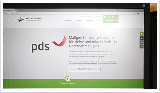 Highlight Produkt für Bleckmann Informationssysteme Webdesign by bgp e.media