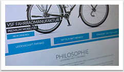 Webdesign im e.sy CMS für Cycle Union by bgp e.media - Ankernavigation Starseite Homescreen