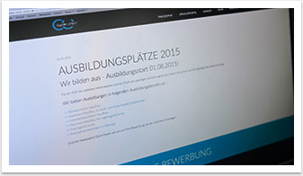 Webdesign im e.sy CMS für Cycle Union by bgp e.media - Karriere