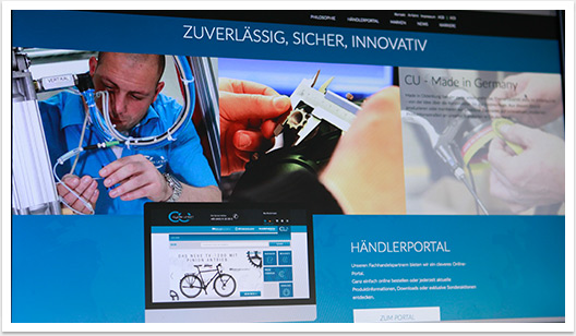 Webdesign im e.sy CMS für Cycle Union by bgp e.media - Händlerportal