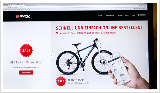 rex bike website startseite by bgp.emedia