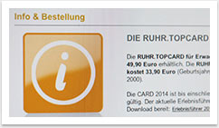 Website Ruhrtopcard