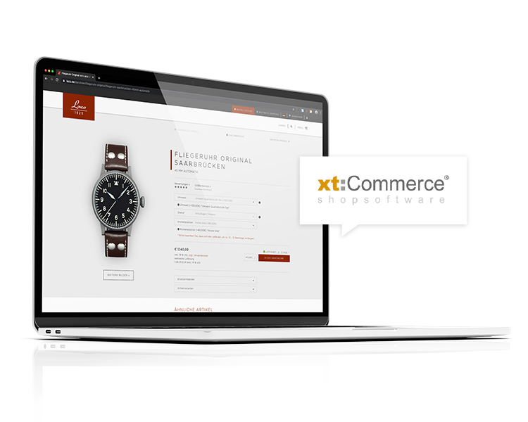 xt:Commerce Onlineshop – Laco Uhrenmanufaktur